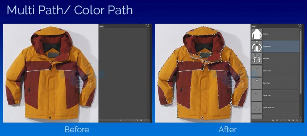 Multiple clipping path